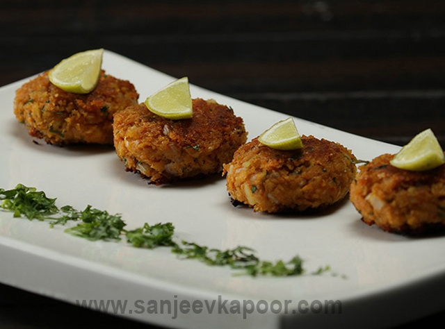 Soya Granule Tikki Recipe Card