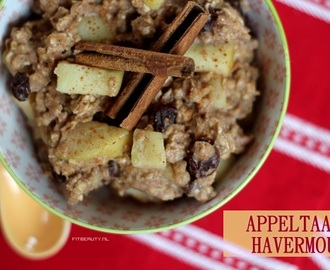 Recept: Appeltaart Havermout