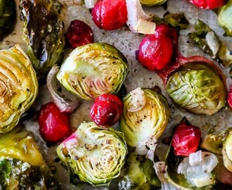 Easy Roasted Brussels with Cranberries Recipe