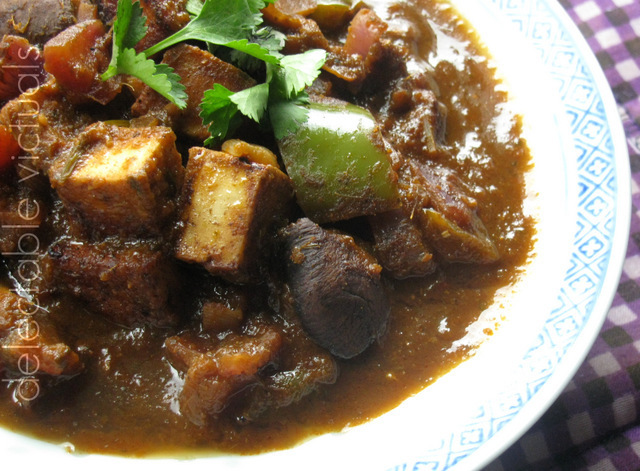 Mushroom and Paneer in Tamarind Curry