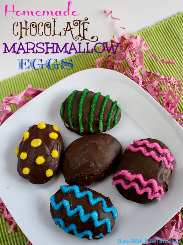 HOMEMADE CHOCOLATE MARSHMALLOW EGGS