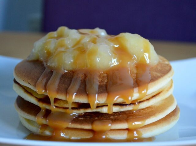 Gluten and Dairy Free Toffee Apple Pancakes