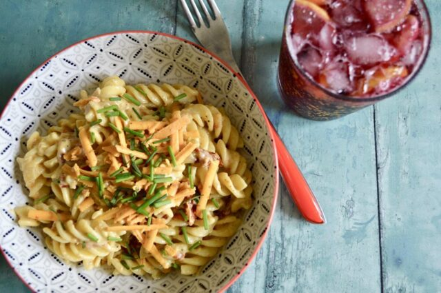 Gluten and Dairy Free Avocado and Sundried Tomato Pasta