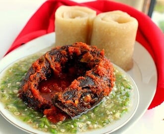 Plain Okra soup with Stew