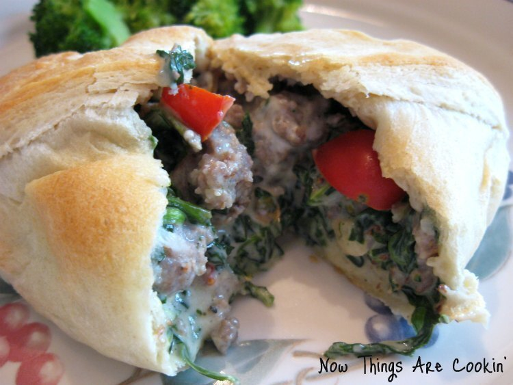 Sausage Cream Cheese Crescent Rolls - Recipe