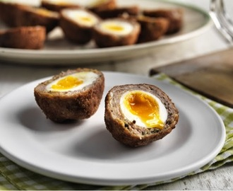 Smoky Bacon Scotch Eggs with Jacobs