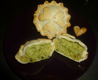 Mini Pie eco con gambi e foglie di broccoli