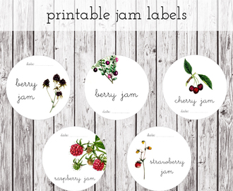 Jam Labels - free printable