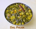 Dal palak( Spinach and Dal Curry)