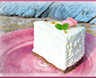 No-Bake White Chocolate Cheesecake