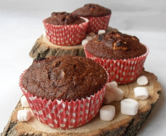 Csokis- pillecukros- zabpelyhes muffin
