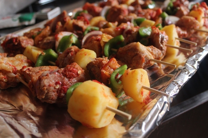 Beef and Potato Kebabs