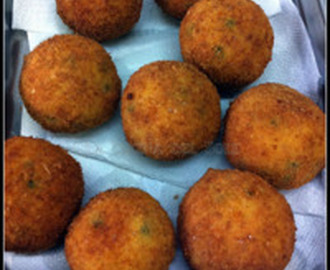 Arancini di riso, a wonderful Sicilian treat