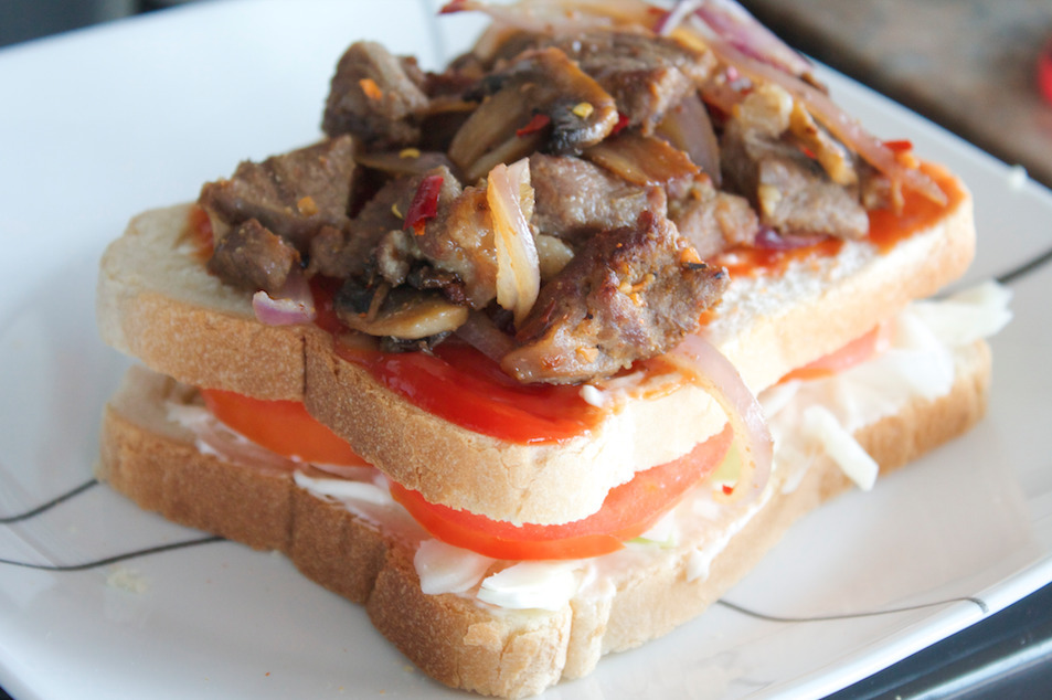 Goat Meat Club Sandwich