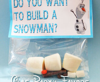 Do You Want To Build A Snowman? Party Favor & Free Printable | #100DaysOfDisney - Day 8 | Disney Make It Monday