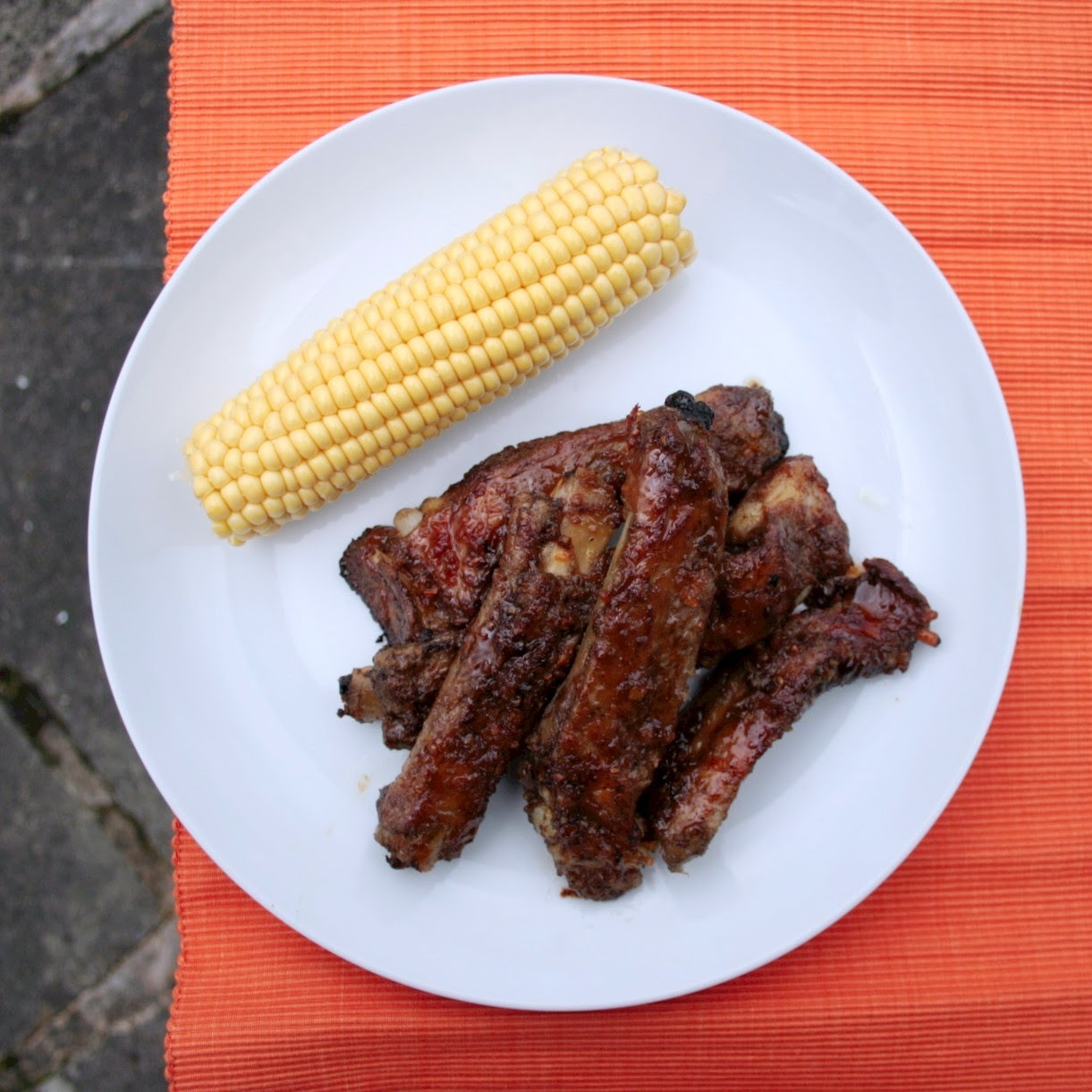Ribs with Ginger, Garlic, Honey and Soy Glaze