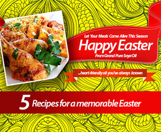 5 RECIPES FOR A MEMORABLE EASTER!