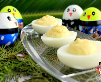Deviled eggs on Easter
