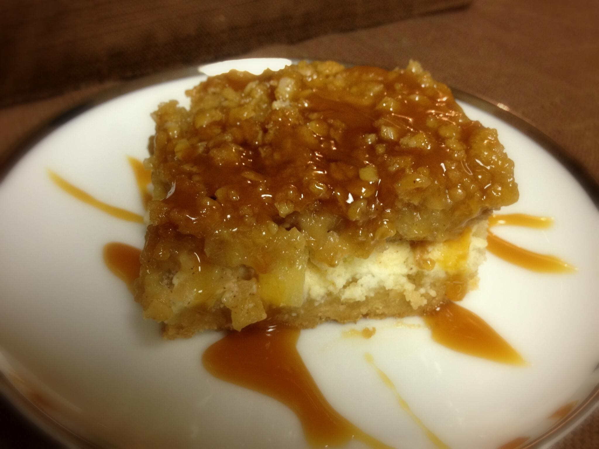 Caramel Apple Cheesecake Bars {Baking with Sisters, Part 6}