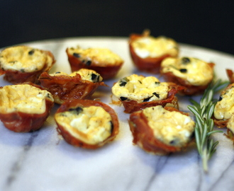 Mini Quiches in Prosciutto Cups