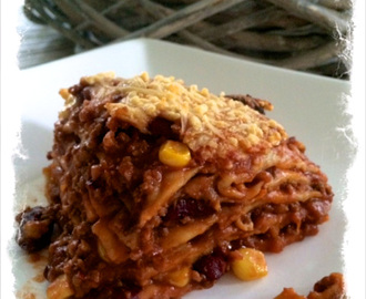 Mexicaanse lasagne (of Mexicaanse wraptaart)