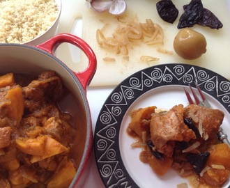 Chicken and Sweet Potato Tagine with Prunes