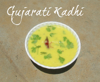 Gujarati Kadhi - A curd based besan curry