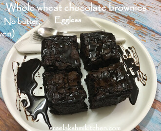 Chocolate brownies | whole wheat chocolate brownies (eggless, no butter, no maida, no oven) | चॉकलेट ब्राउनी | சாக்லேட் ப்ரௌனி
