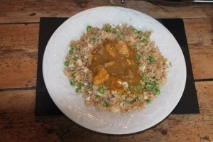 Chinese Chicken Curry In a Hurry (ish) With Egg Fried Rice