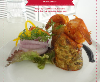 Succulent Chicken breast cafreal stuffed with fiery Prawn Balchao