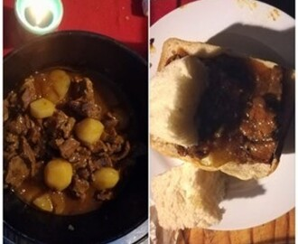 LAMB CURRY POTJIE OR BUNNY CHOWS
