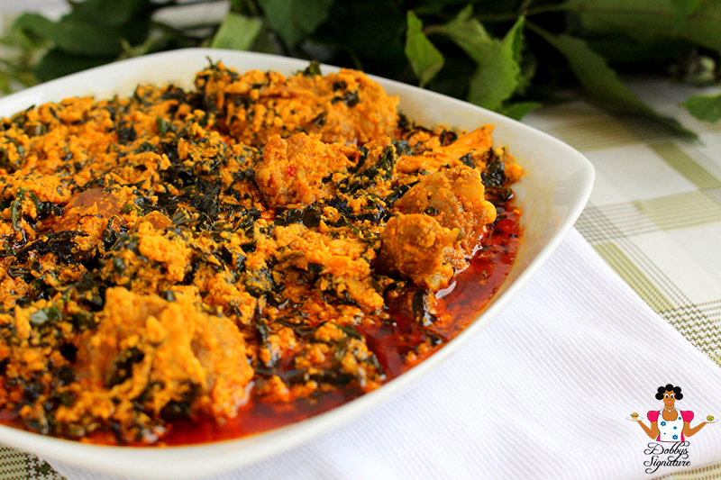 Egusi (melon) Soup with Ugu