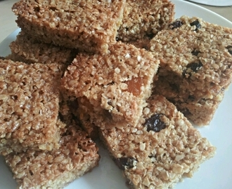 Sultana, apricot & honey flapjacks