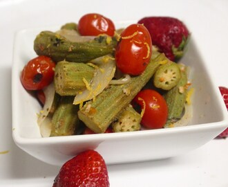 My Experiments…Okra & Cherry Tomato Salad