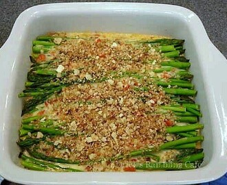 Asparagus Coddled in Cheese Sauce