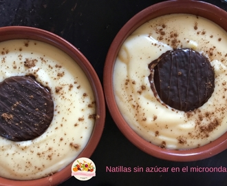 Natillas sin azúcar light al microondas