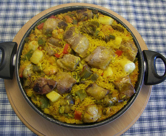 ARROZ MIXTO DE MARISCO Y COSTILLA DE CERDO