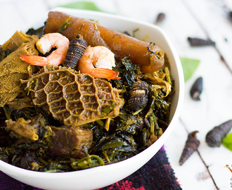 Afang Soup (Efik style vegetable soup)
