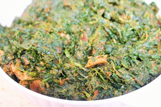 NIGERIAN VEGETABLE SOUP IN ITS PURITY & TASTE
