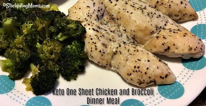 Keto One Sheet Chicken and Broccoli Dinner Meal