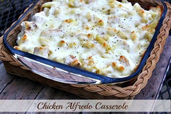 Cheesy Chicken Alfredo Casserole