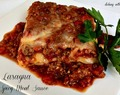 Lasagna {with Spicy Meat Sauce}