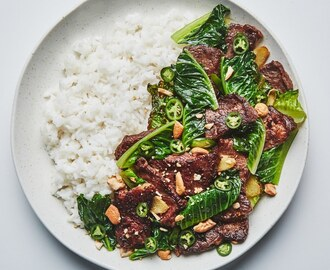 Beef and Romaine Stir-Fry
