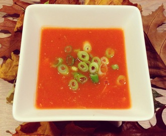 Sweet Tomato Soup with Chicken and Glass Noodles