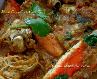 Njandu Curry / Crab Roast Curry