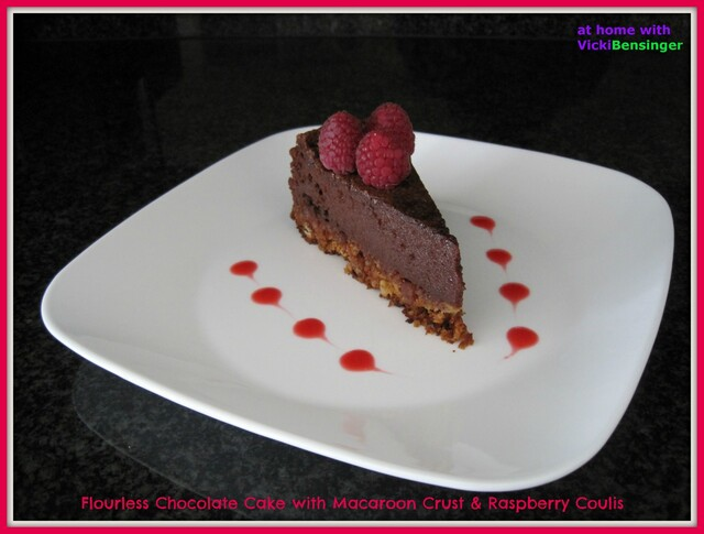 Flourless Chocolate Cake with Macaroon Crust