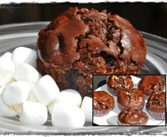 Chokladmuffins med Marshmallows