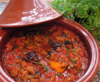 Lamb tagine with honeyed prunes