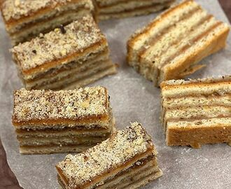 Provereni recepti. Cooks and Bakes: Slagani kolač .... Apricot and Walnut Squares: