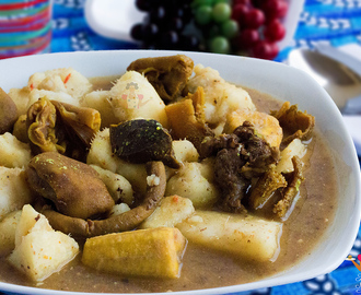 Ukodo recipe (Urhobo yam & plantain pepper soup)